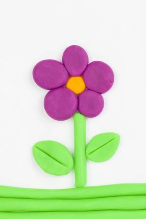 Flor de massinha de modelar